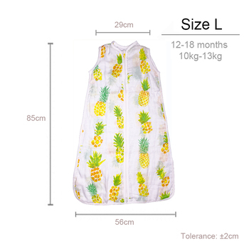 100% Muslin Cotton Baby Thin Slumber Sleeping Bag Mod For Summer bedding Baby Saco De Dormir Para Bebe Sacks  Sleepsacks 1