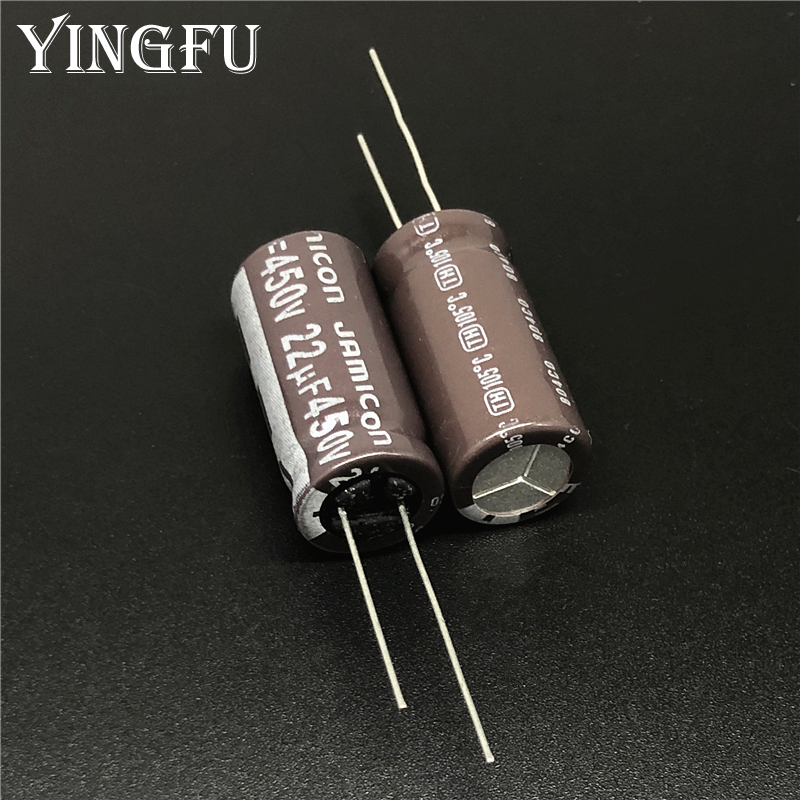 10pcs 22uF 450V JAMICON TH Series 12.5x25mm Low ESR Long Life 450V22uF Aluminum Electrolytic Capacitor
