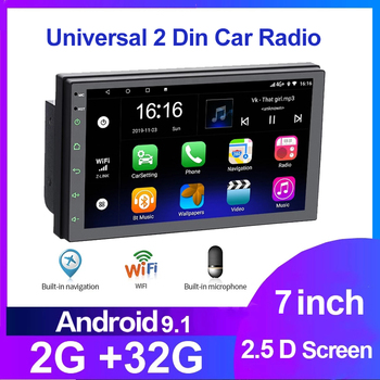 7 Android 9.0 2 Din Car Radio multimedia video player For Nissan Hyundai Kia toyota LADA Ford navigation GPS audio Universal image