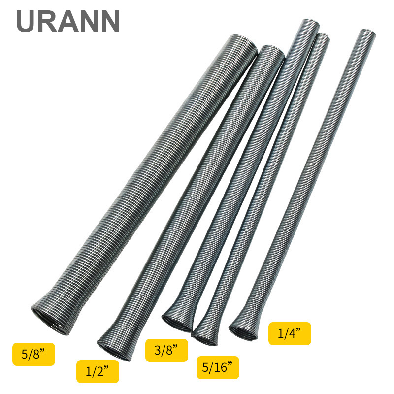 URANN 5pcs 9-16mm Air Condition Copper Pipe Bender Pipe Bending Tool Outside Style Aluminum Pipeline Spring Tube Bender