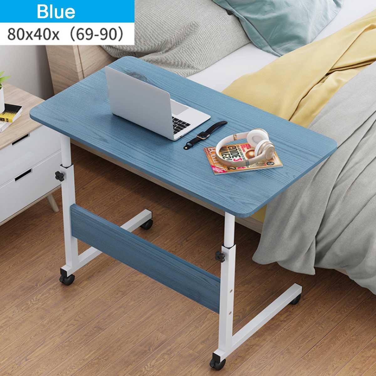 Laptop Warenkorb Roll Schreibtisch Mobilen Ständer Tragbare Caster Warenkorb Bett Seite Overbed Tabelle Computer Schreibtisch Studie Schreibtisch mit Abschließbar Caster