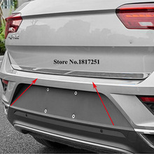 цена на For Volkswagen VW T-ROC T ROC 2017 2018 2019 Stainless Steel Car Tailgate Rear Door Cover Molding Trim Car Styling Accessories