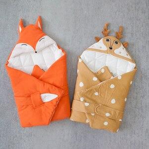 Image 2 - Baby Decke Quilt Decke Für Entladung Neugeborenen Baby Swaddle Wrap Nette Cartoon Form 100% Baumwolle 80*80Cm Bettwäsche wagen Sack