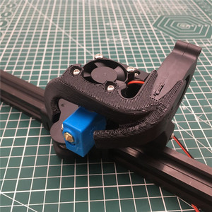 Image 2 - 3D принтер Tornado Creality ender 3, 1 шт., цельнометаллический принтер e3d Volcano hotend mount Creality CR10 v6, набор для модификации 1,75 мм