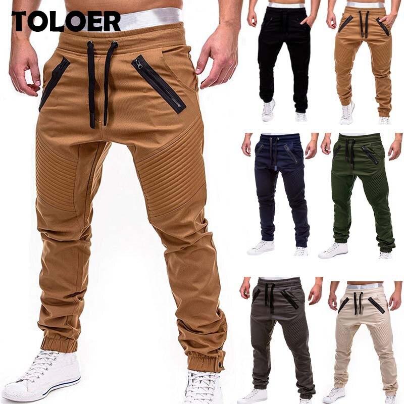 Mens Joggers Casual Fitness Sweatpants Men Hip Hop Sportswear Tracksuit Sweatpants Male Solid Trousers Gyms Jogger Track Pants
