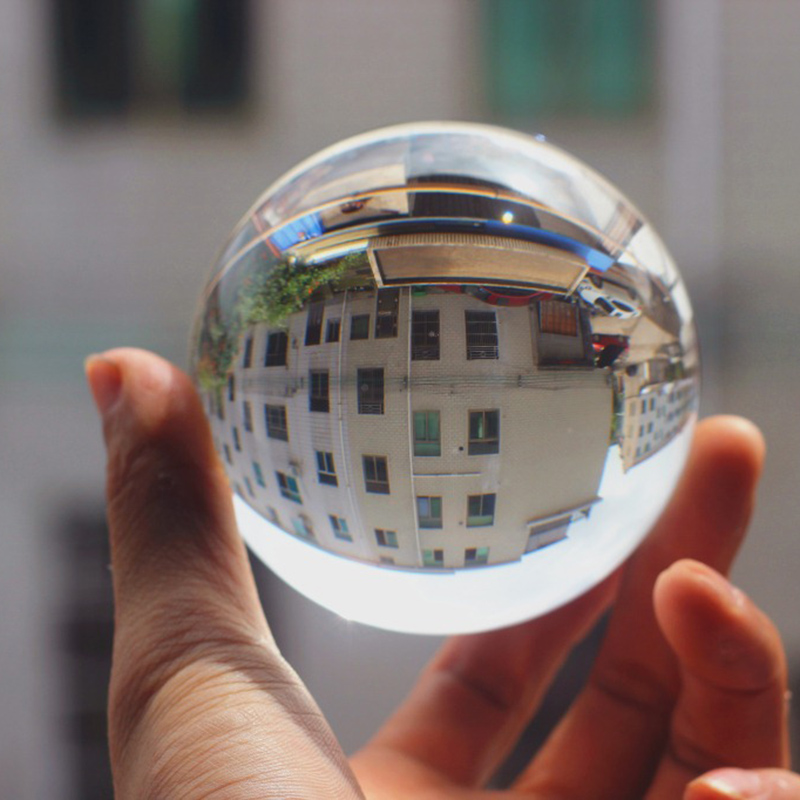 Clear Glass Crystal Ball Healing Sphere Photography Props K9 Crystal Lensball Decor Props Photo Gift For Outdoor Photography