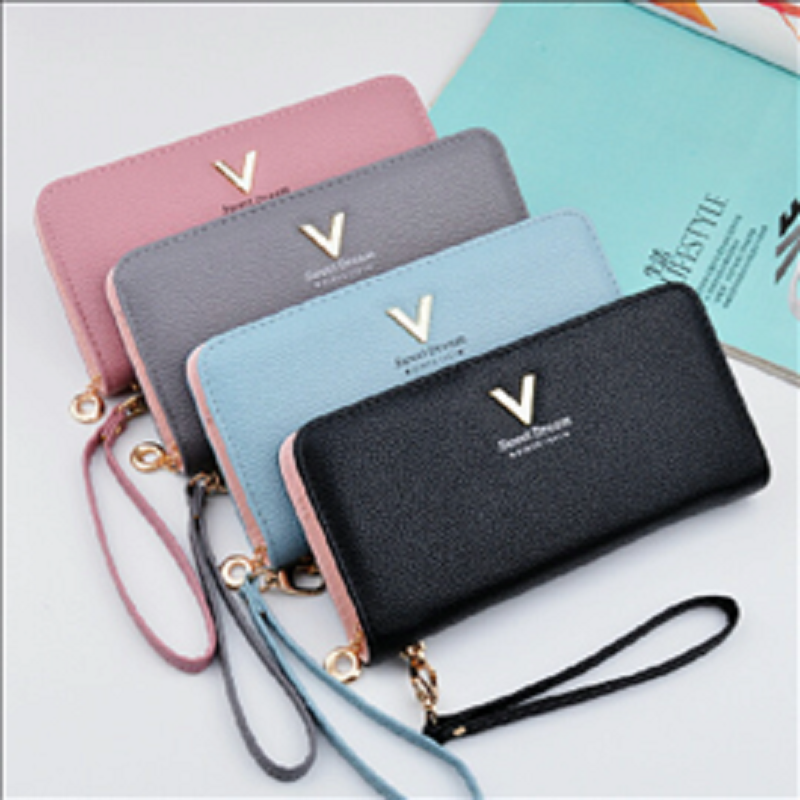 Cross border new handbag women's wallet women's long zipper handbag fashion zero wallet large capacity mobile phone bag