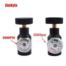Paintball co2 ar comprimido preenchimento adaptador remoto de ligar/desligar asa adaptador com 2000/3000psi calibre