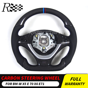 Carbon fiber steering wheel for BMW X5 E70 X6 E71 Replacement Carbon Fiber Steering Wheel X5 interior