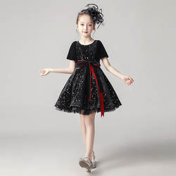 Пушистое платье принцессы для девочек; детское вечернее платье на день рождения; платье для подиума для девочек; фортепиано костюм; сезон