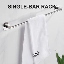 Ванная комната полотенце вешалка нержавеющая сталь сталь настенная навесная двойная полотенце держатель поручень хранение вешалка кухня органайзер ванная аксессуары