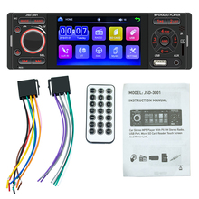 Reproductor MP5 para coche, JSD-3001 WIN CE, pantalla capacitiva de 4,1 pulgadas, reproductor MP5 Bluetooth, Radio 3001