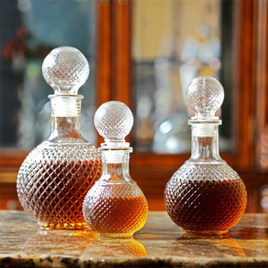 Home Bar Round Ball Shape Crystal Whiskey Wine Beer Drinking Glass Bottle Decanter Whiskey Liquor Carafe Water Jug Barware Tools
