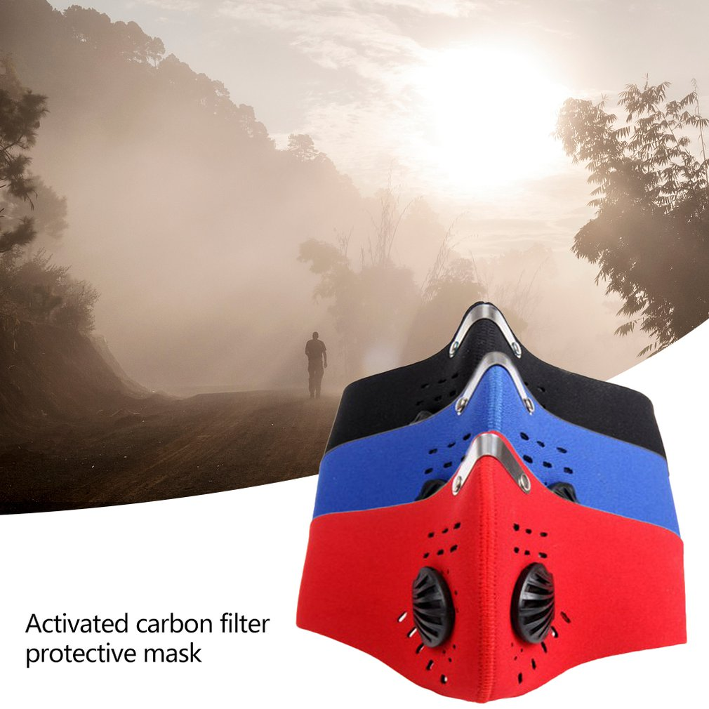 Dust Mask With Activated Carbon Filter Protective Mask Outdoor Sports Unisex Dust Mask Filter Protective Mask 3