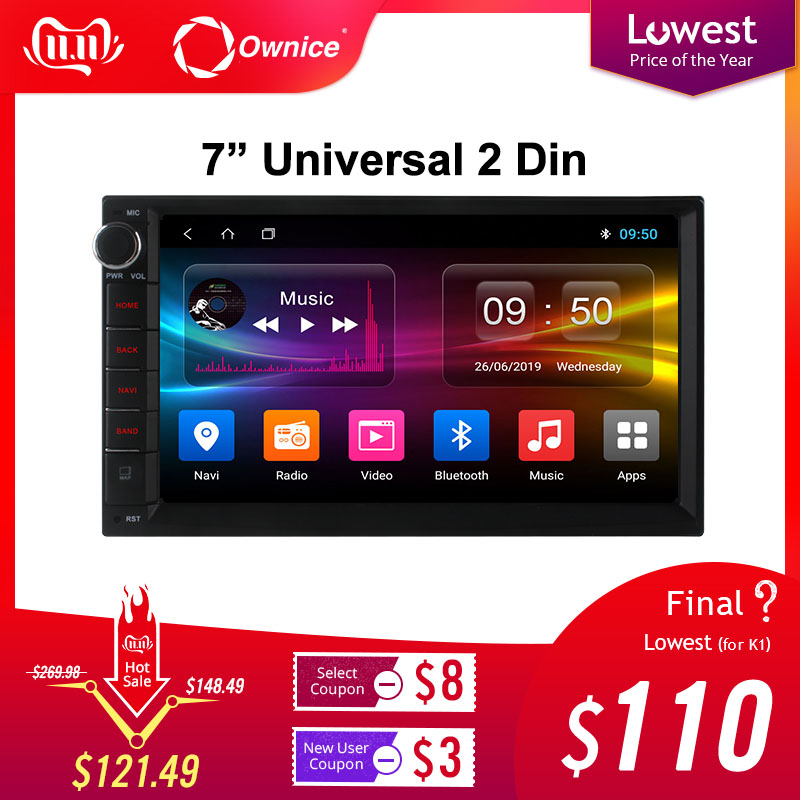 Ownice K1 K2 K3 Android 9.0 Octa Core 2 din Universal For Nissan GPS Navi Radio Stereo Audio Player(No DVD) Build-in 4G Moudule image