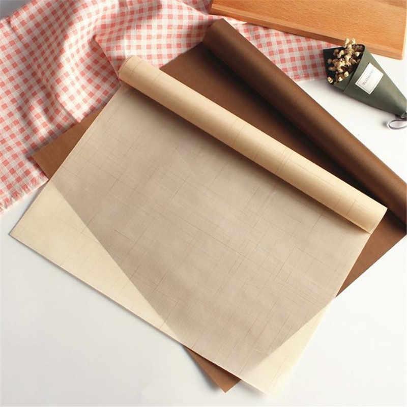 TTLIFE mata do pieczenia odporna na wysokie temperatury arkusz teflonu ciasto do pieczenia papier do pieczenia podkładka odporna na ciepło nieprzywierająca do grillowania na świeżym powietrzu