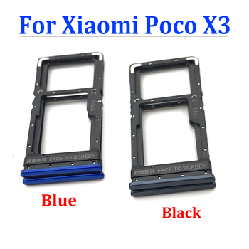 50Pcs For Xiaomi Poco X3 NFC SIM Card Tray Slot Holder Adapter Socket Poco X3 Sim Tray Holder Replacement Part