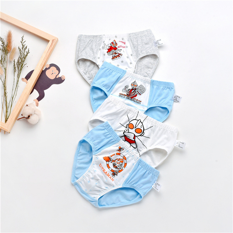 1Pcs Cotton Children Underwear  Kids Cartoon Panties Boys Shorts Underpants Soft Baby Boys Briefs