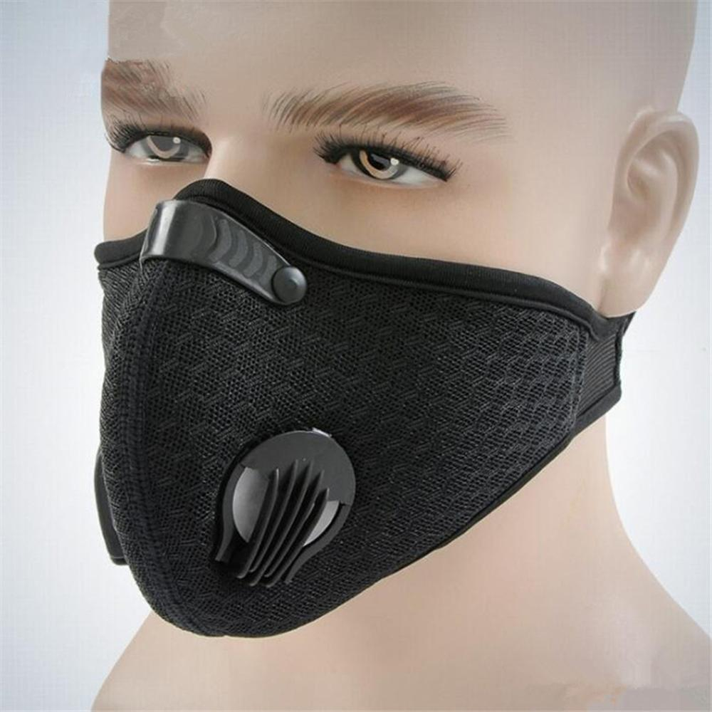 Reusable Sports Mask Dust-proof Ear Loops Mask Activated Carbon Valve PM2.5 Running Motorcycle Cycling Protective Mask