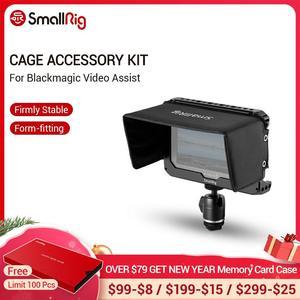 "Image 1 - SmallRig Monitor Cage Kit для Blackmagic Design Video Assist 5 ""монитор с hdmi зажимом Sunhood Ballhead Cold Shoe 1981"