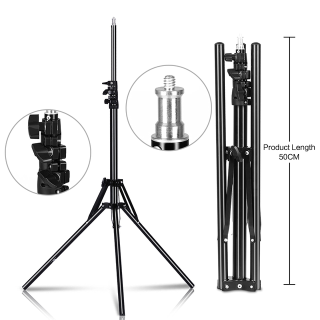 Professional Adjustable 1.84M Light Stand Tripod With 1/4 Screw Head For Photo Studio Flashes Photographic Lighting Softbox