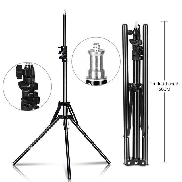 Profesyonel ayarlanabilir 1.84M işık standı Tripod ile 1/4 vida kafa fotoğraf stüdyosu için yanıp sönen fotoğraf aydınlatma Softbox