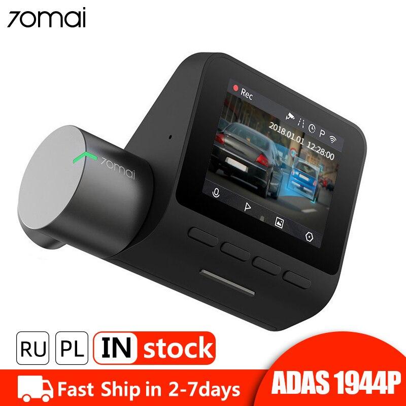 ADAS 70mai Pro Traço Cam 1944P GPS Wi-fi Car DVR Traço Camera Voice Control 24H Monitor de Estacionamento Noite gravador de Vídeo De visão