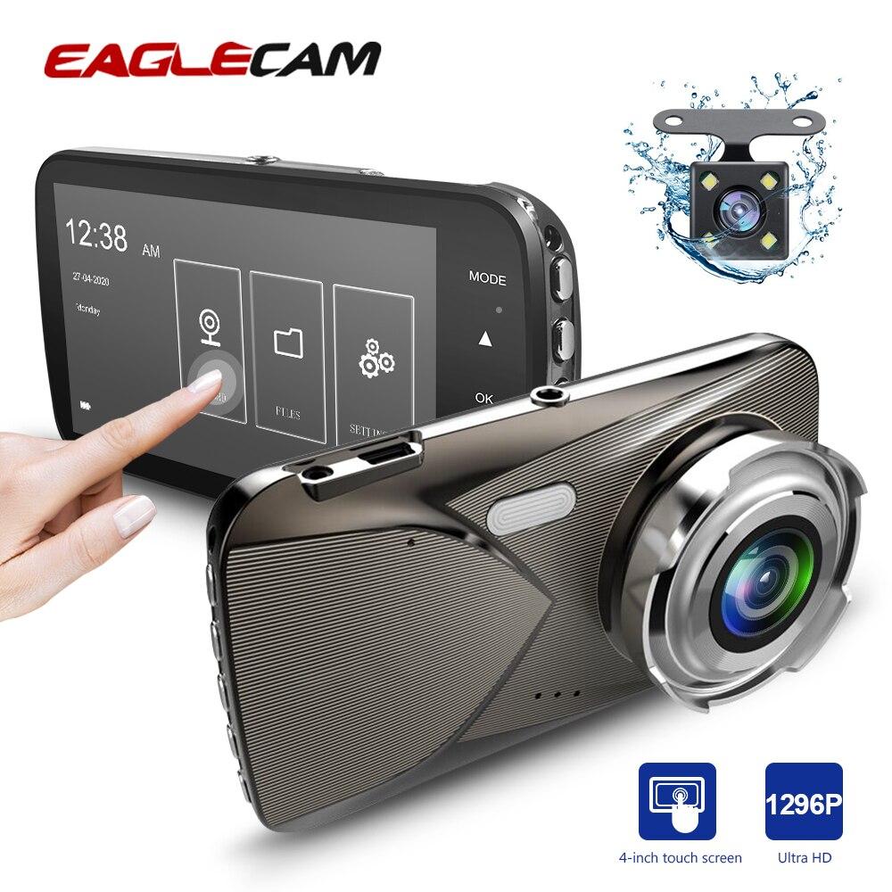 Автомобильный видеорегистратор, 4 дюйма, Full HD 1296P, двойной сенсорный экран, автомобильная камера, видеорегистратор, видеорегистратор с ночным видением, видеорегистратор|Видеорегистраторы|   | АлиЭкспресс