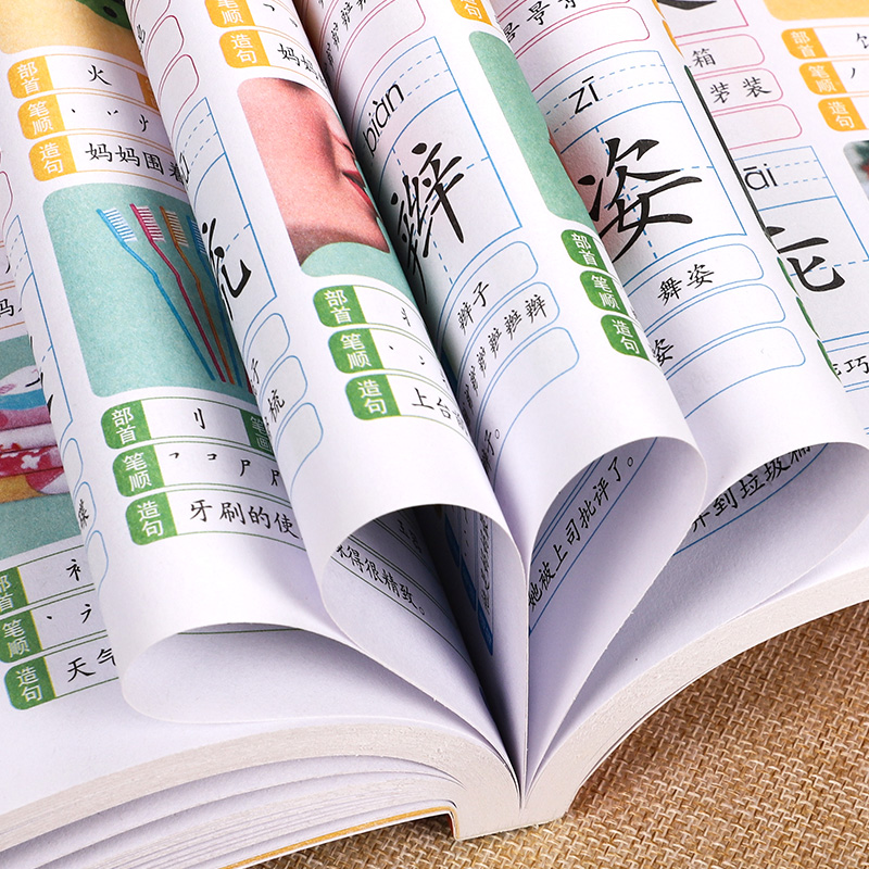 1280 Words Chinese Books Learn Chinese First Grade Teaching Material Chinese characters Picture Book 4