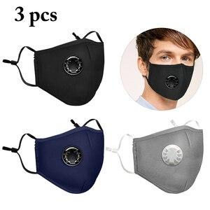3 шт. маска для рта для лица для взрослых PM2.5 фильтр с активированным углем маска для рта унисекс защита от пыли многоразовые слои