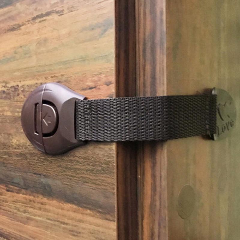 5pcs/set Safety Cloth Belt Lock  Protection Door Lock Cabinet Wardrobe Refrigerator Safe For Kid Child Baby Drawer Security