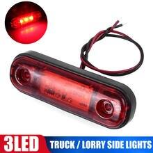 Novo DC10-30V 3 led marcador luz de advertência para caminhão reboque camper rv à prova drv água vermelho carro captador lâmpada