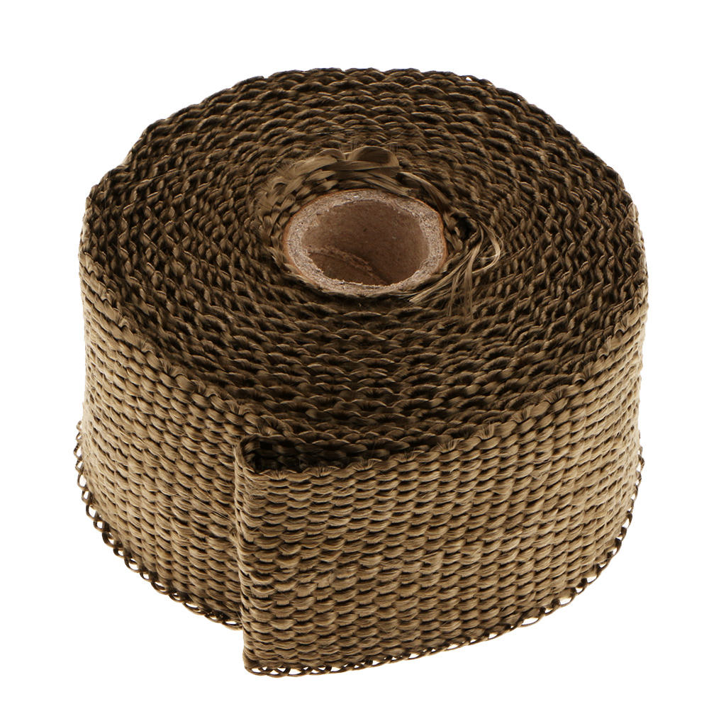 5m Universal Motorcycles Incombustible Exhaust Thermal Wrap Roll Heat Shield Tape Manifold For Motorcycle AccessoriesWrap