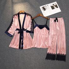 Женский бархатный пижамный комплект daeyard из 3 предметов сексуальный