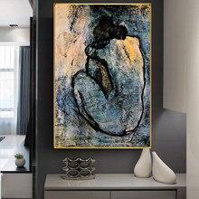 Pintura em tela de pablo picasso pintura em tela poster e impressões arte da parede cuadros fotos para sala estar decoração