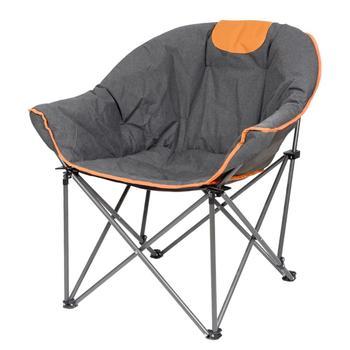 Sofa Chair, Oversize Padded Moon Leisure Portable Stable Comfortable Folding Chair for Camping, Hiking, Carry Bag кресло складное kingcamp moon leisure chair цвет синий