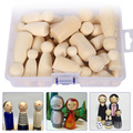 52 stücke Holz DIY Handwerk Peg Puppen Maple Unlackiert Kinder Geburtstag Geschenke Handgemachte Unfertige Hochzeiten Decor Puppe Kunst