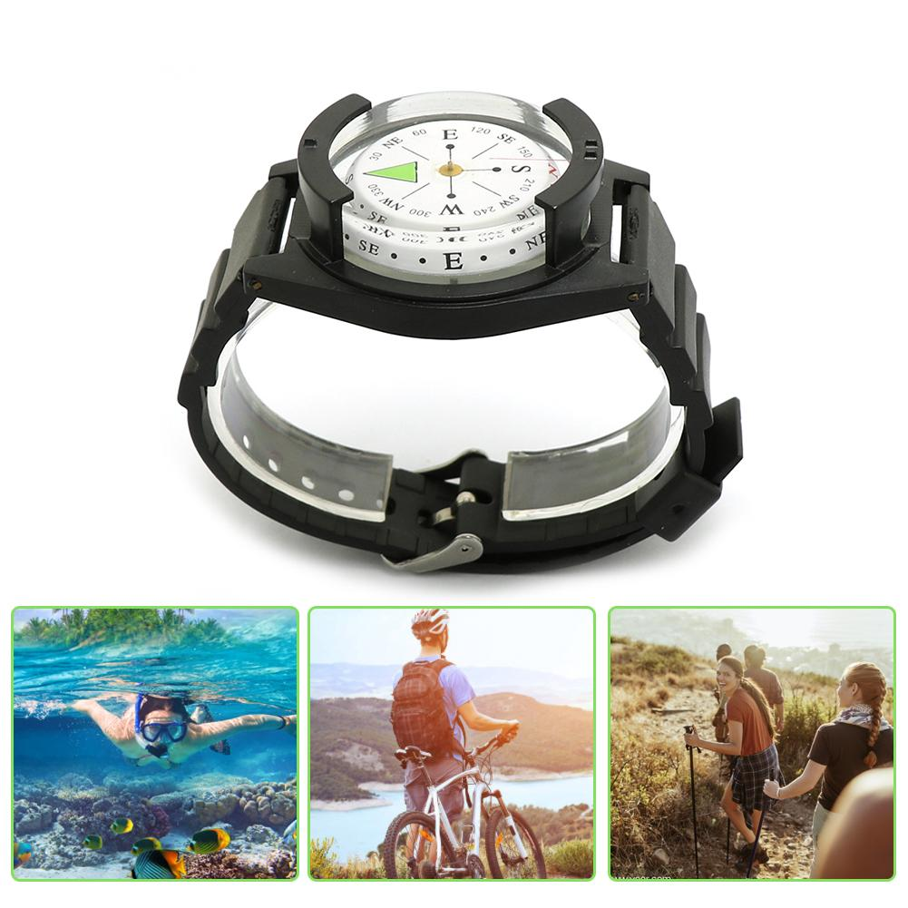 Outdoor Waterproof Tactical Wrist Compass Watch Military Survival Tool Strap Band Bracelet Gear GPS For Climbing Hiking Diving