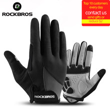 ROCKBROS Windproof Cycling Gloves Bicycle Touch Screen Riding MTB Bike Glove Thermal Warm Motorcycle Winter Autumn Bike Clothing