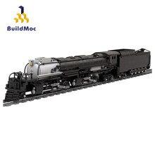 BuildMoc Hohe-Tech Zug Station Union Pacific 4014 Großer Junge Bausteine Hohe-Tech MOC Mechaniker Eisenbahn Modell ziegel Spielzeug Geschenk