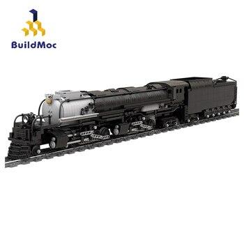 BuildMoc techniczna stacja kolejowa Union Pacific 4014 Big Boy klocki techniczne MOC mechanik kolejowy Model klocki do zabawy na prezent|Klocki|   -
