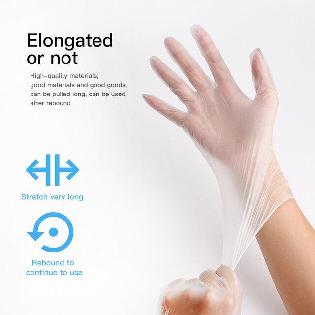 TPE Einweg Handschuhe Transparent/Blau 5
