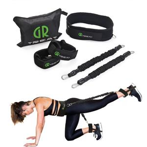 Image 2 - Booty Band Set   Workout Resistance Bands   Booty Butt System for a Bikini Butt Abs Glutes Muscle Workout with Adjustable Waist