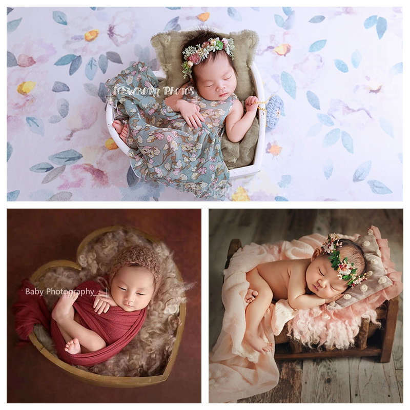 Baby  Photo  Props Baby Crib Infant Heart-shaped Wooden Container Photo Studio Newborn Photography  Props