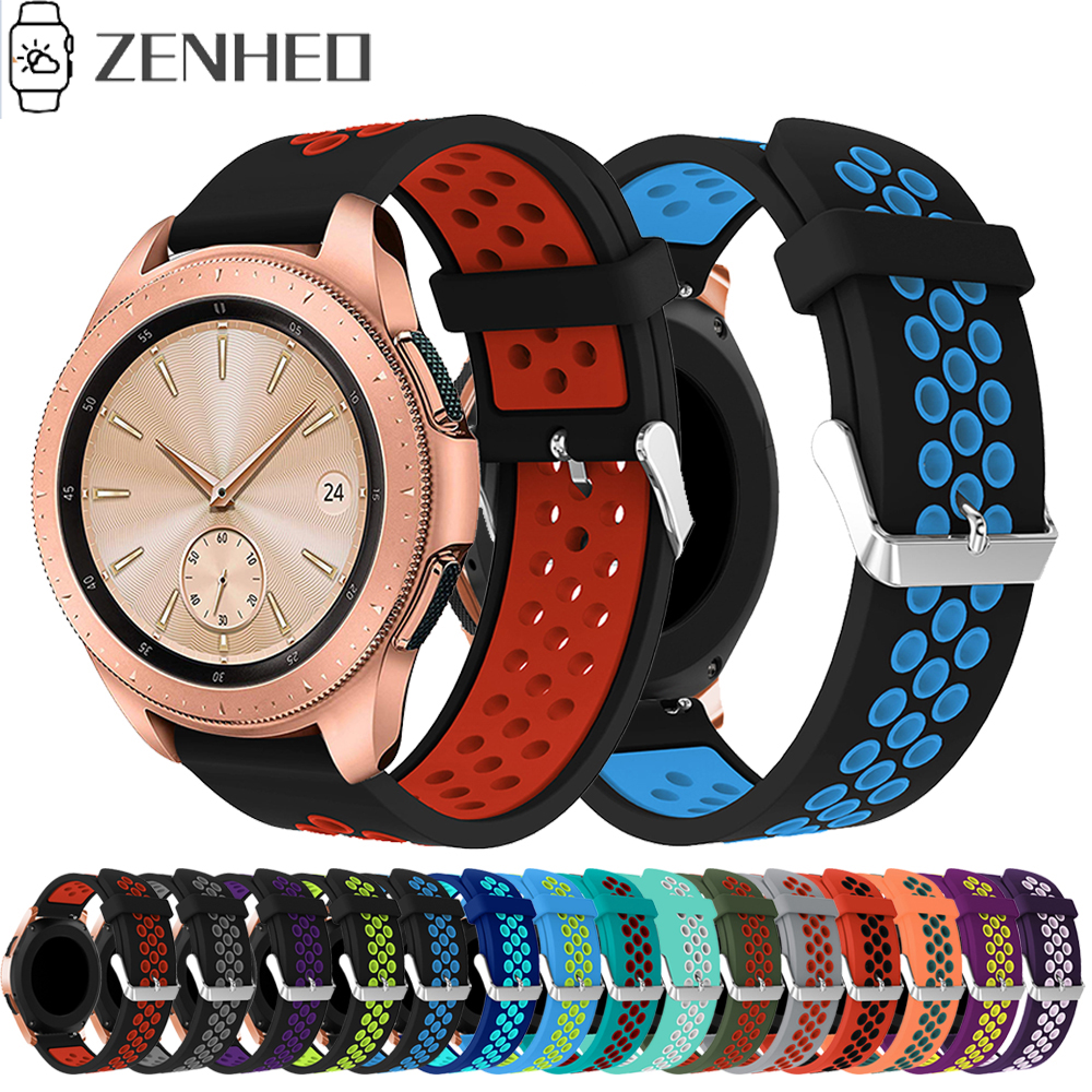 Silicone Strap For Samsung Galaxy Watch 42mm Bands Replacement Bracelet Strap For Huami Amazfit Bip 20mm Watchband For Gear S2