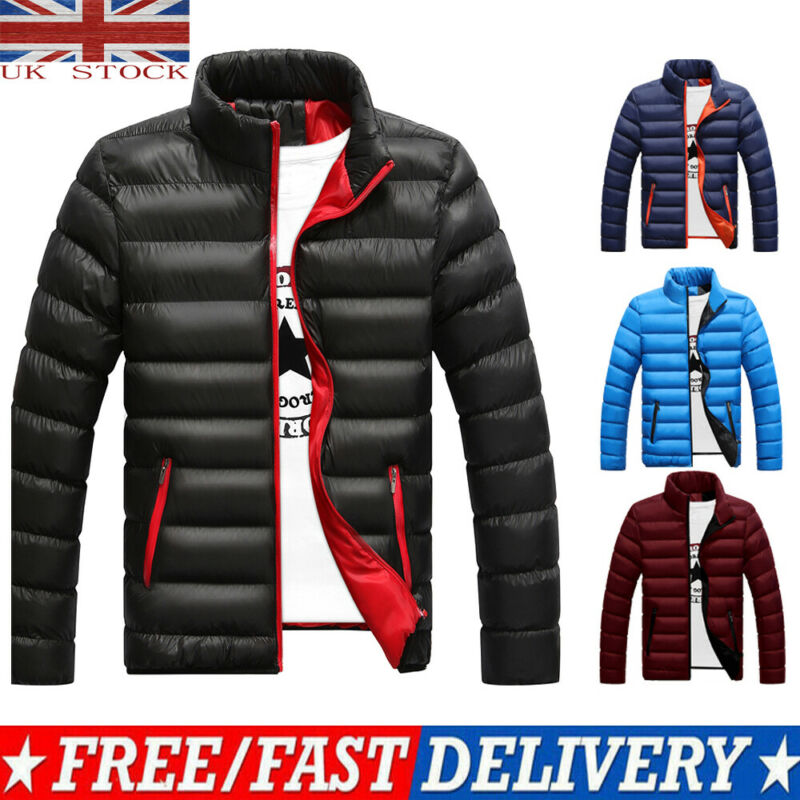 Men's Packable Down Jacket Men's Ultra Lightweight Packable Puffer Down Jacket Men Lightweight Stand Collar