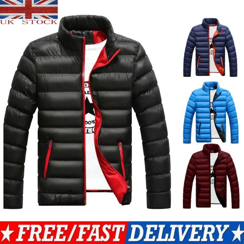 Men's Packable Down Jacket Men's Ultra Lightweight Packable Puffer Down Jacket Men Lightweight Stand Collar