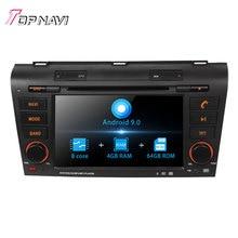 Autoradio 7'' Octa Core Android 9.0 Car Radio GPS Navigation For MAZDA 3 2004 - 2009  Stereo Audio DVD Multimedia Player 2 Din