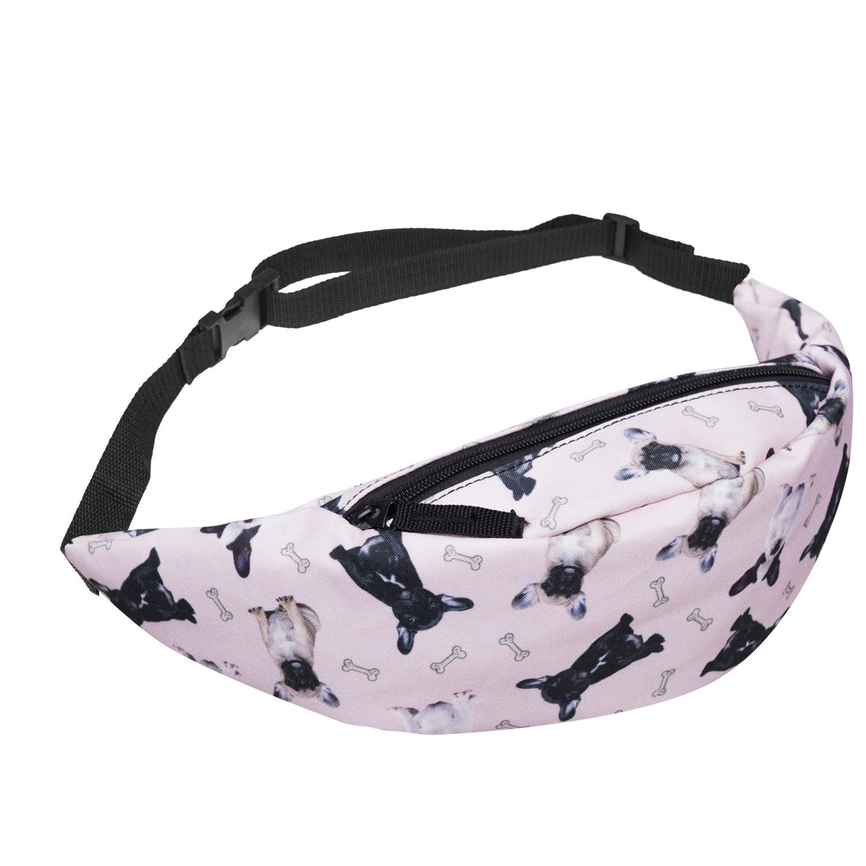Digital Printed Bones Bulldog Dog Bulldogs Running Bag Chest Pack Shoulder Bag Hot Selling