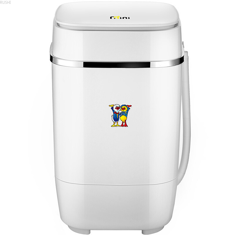 3.2kg Mini Washing Machine Semi-automatic Single Barrel Baby Washing Machine Blue Light Portable Washing Machine